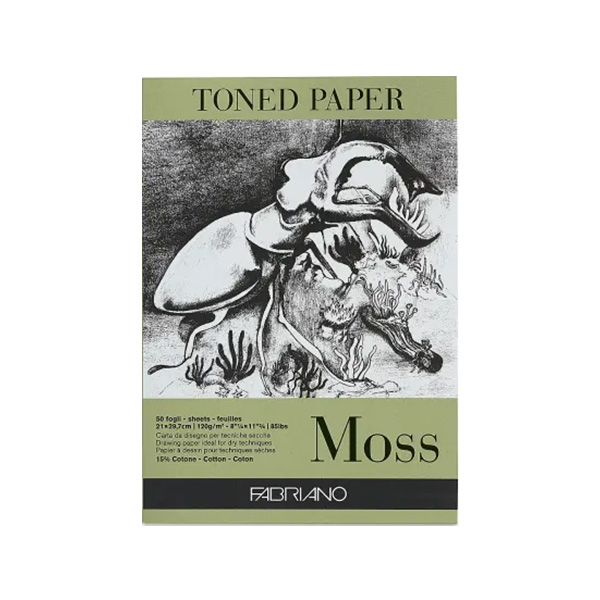 Fabriano-Toned-Paper-Moss-Pad-Cover