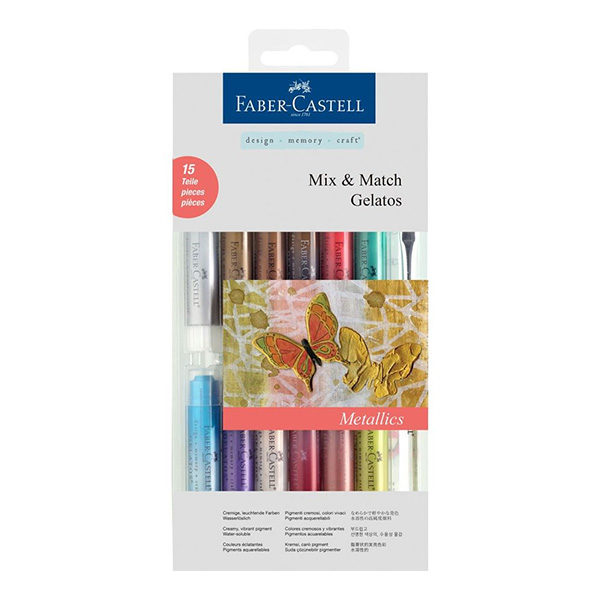 Faber-Castell-Gelato-Water-Soluble-Crayons-Metallics-15-Set