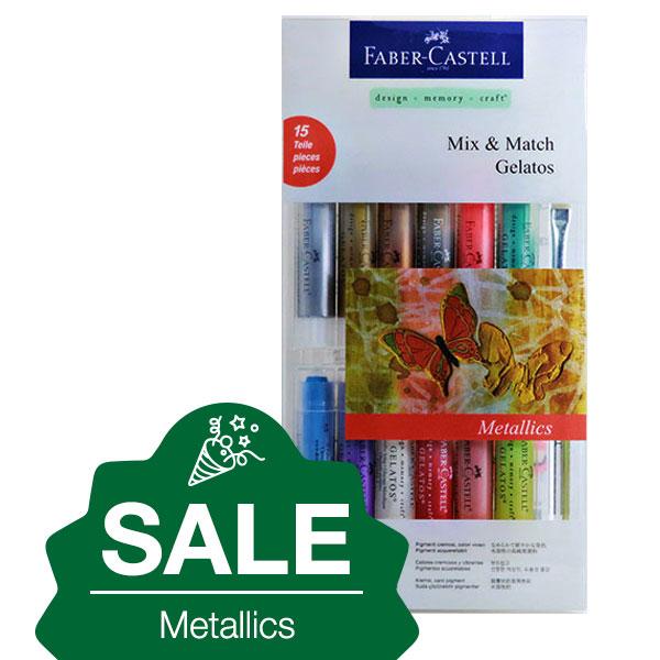 Faber-Castell-Gelatos-Metallics-15-Set-on-january-sale-new