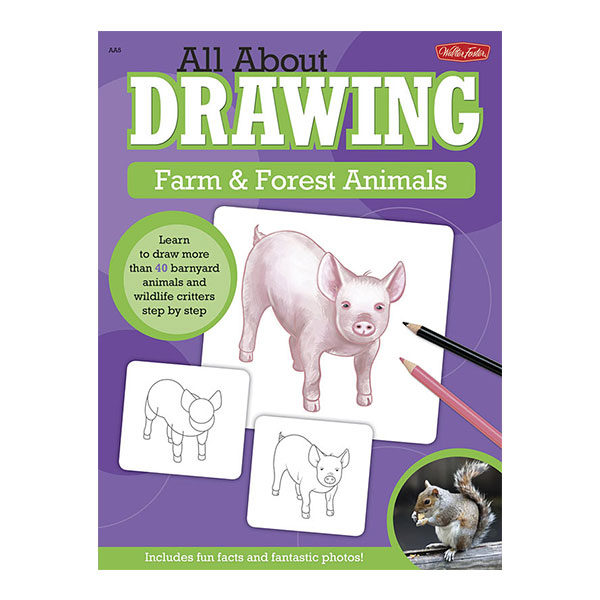 Walter-Foster-All-about-Drawing-Book-of-Farm-&-Forest-Animals-AA5