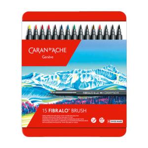 Caran-DAche-Fibralo-Brush-15-Colour-Assortment-New-Set