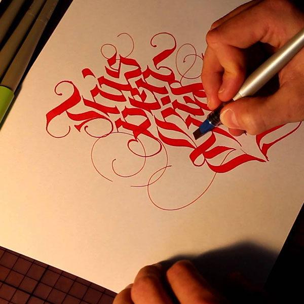 Pilot-Parallel-Pens-Calligraphy-Sketch