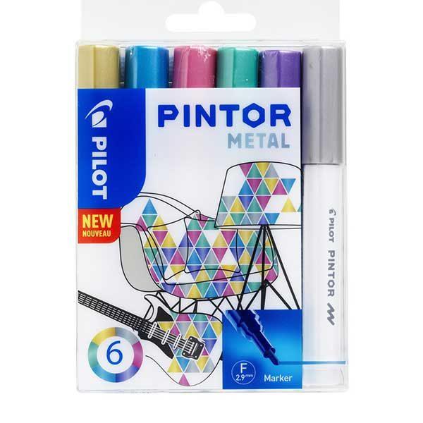 Pilot-Pintor-Marker-Metal-Set-6pc
