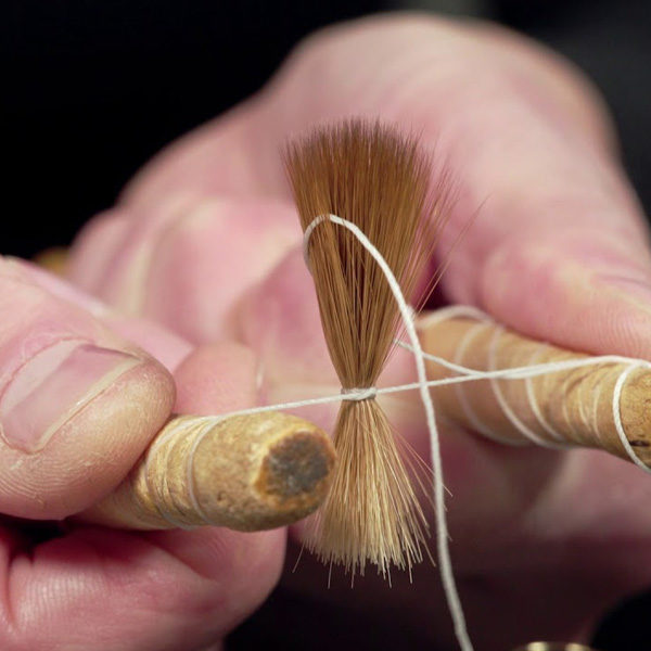 Kolinsky-sable-Brushes-being-made-by-hand