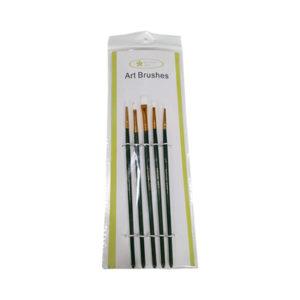 Prime-Art-White-Taklon-5pc-Brush-Set
