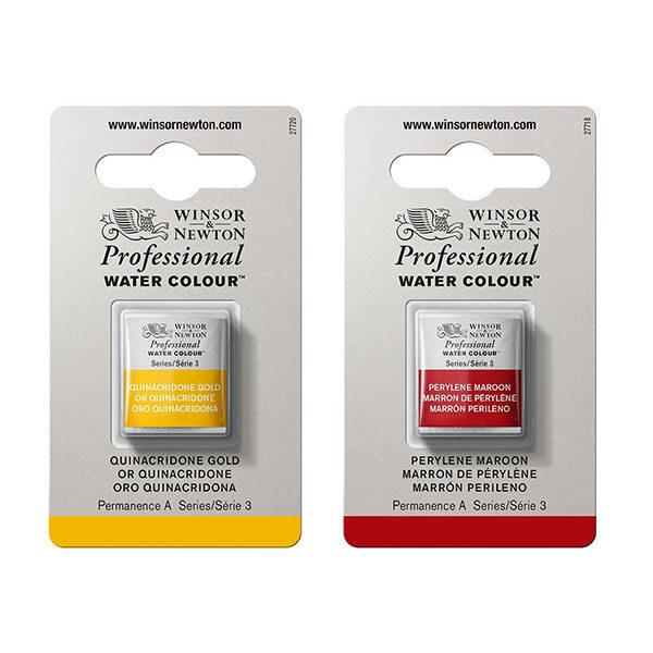 Winsor-&-Newton-Professional-Watercolour-Half-Pan-Quinacridone-Gold-&-Perylene-Maroon