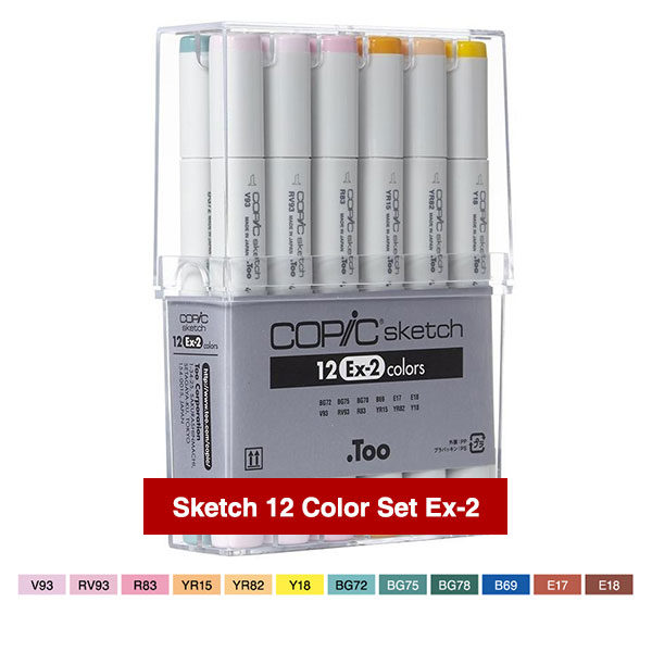 Copic-Markers-Sketch-12-Color-Set-Ex-2