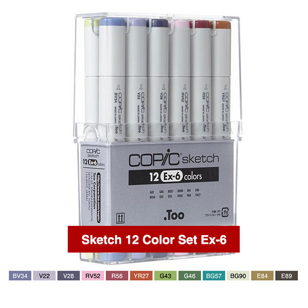 Copic-Markers-Sketch-12-Color-Set-Ex-6