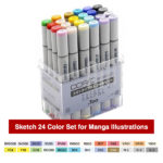 Copic-Markers-Sketch-24-Color-Set-for-Manga-Illustrations