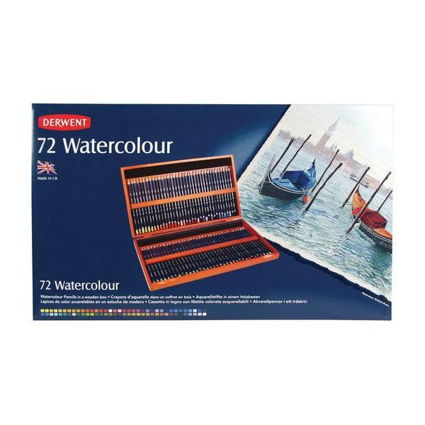 Derwent-Watercolour-Pencils-Wooden-Box-Set-of-72-Front