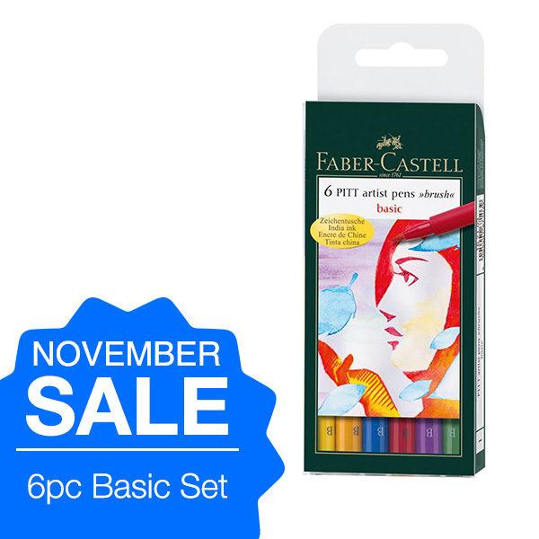 Faber-Castell-6-Pitt-Artist-Basic-Pen-Set-on-november-sale