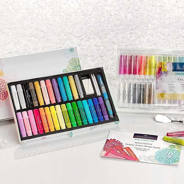 Faber-Castell-Gelatos-Watersoluble-Crayons-33pc-Gift-Set-Displayed