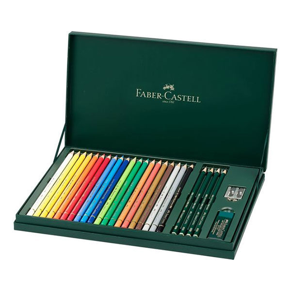 Faber-Castell-Mixed-Media-Gift-Set-Polychromos-and-Castell-9000-box-opened