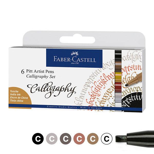 Faber-Castell-Pitt-Artist-Calligraphy-Pens-6-Set