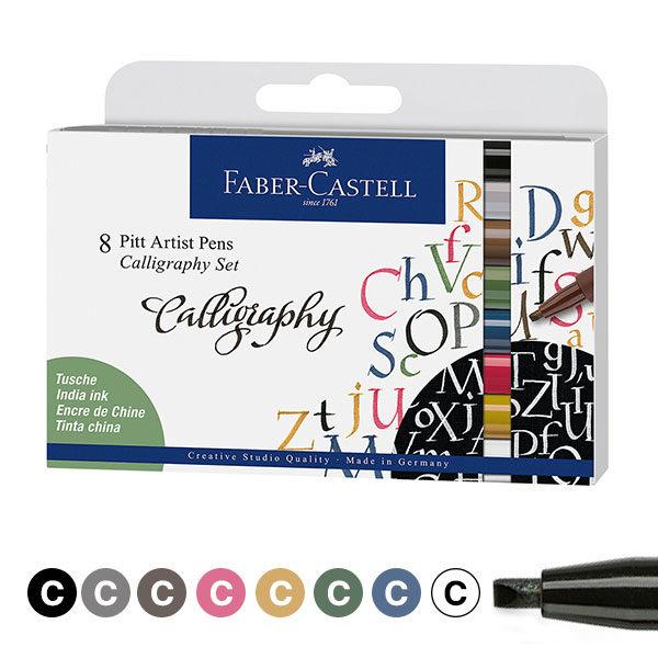 Faber-Castell-Pitt-Artist-Calligraphy-Pens-8-Set