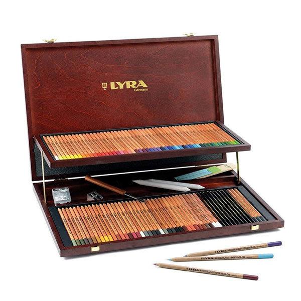 LYRA-Rembrandt-Polycolor-Art-Pencils-Wooden-Box-Set-of-106-pieces