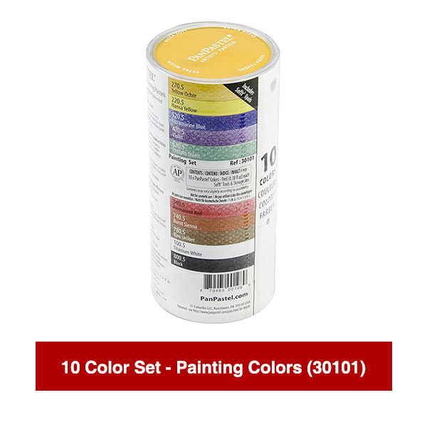 PanPastel-Ultra-Soft-Artists-Painting-Pastels-10-Color-Set-Painting-Colors-(30101)