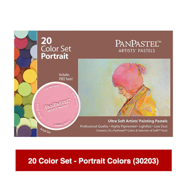 PanPastel-Ultra-Soft-Artists-Painting-Pastels-20-Color-Set-Portrait-Colors-(30203)