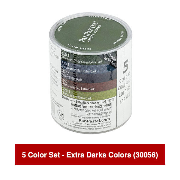 PanPastel-Ultra-Soft-Artists-Painting-Pastels-5-Color-Set-Extra-Darks-Colors-(30056)