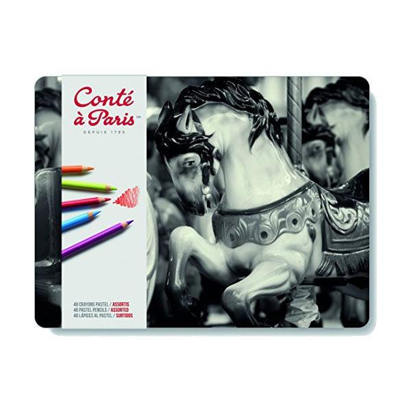Conte-a-Paris-Assorted-Pastel-Pencil-Tin-48-Set