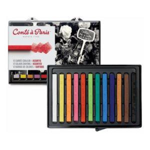 Conte-a-Paris-Colour-Carre-Crayons-Assorted-set-of-12-Set
