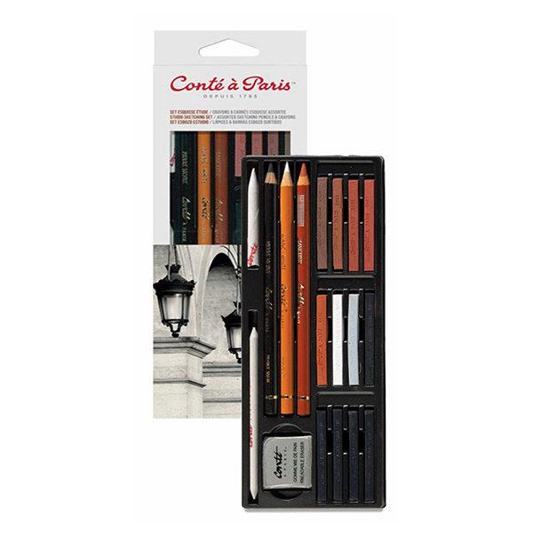 Conte-a-Paris-Studio-Sketching-Set-Assorted-Blister-Pack