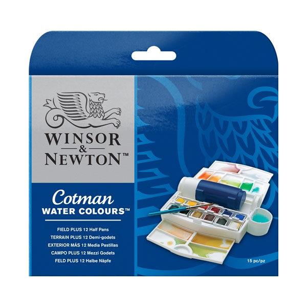 Winsor-&-Newton-Cotman-Water-Colours-Field-Plus-12-Half-Pans-Set