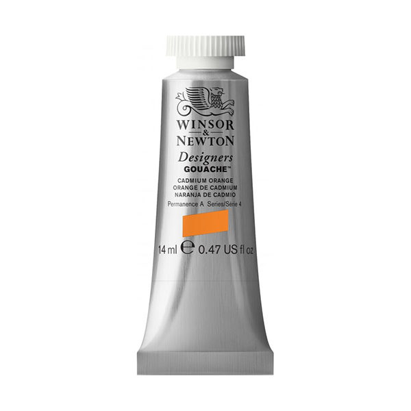 Winsor-&-Newton-Designers-Gouache-14ml-Tube-Cadmium-Orange