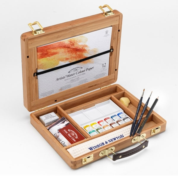 Winsor-&-Newton-Professional-Water-Colour-Bamboo-Box-Half-Pan-Set