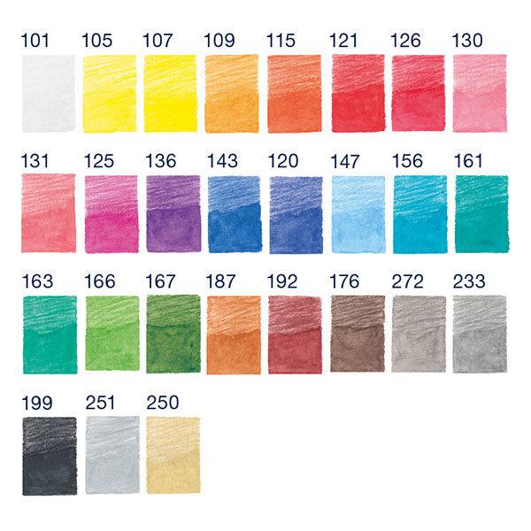 Faber-Castell-Pencil-Roll-Goldfaber-Aqua-Watercolour-Pencils-Colour-Chart