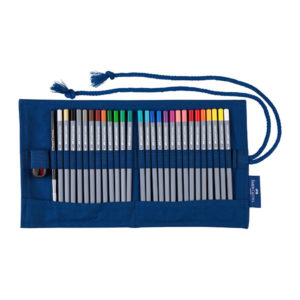 Faber-Castell-Pencil-Roll-Goldfaber-Aqua-Watercolour-Pencils-opened-up