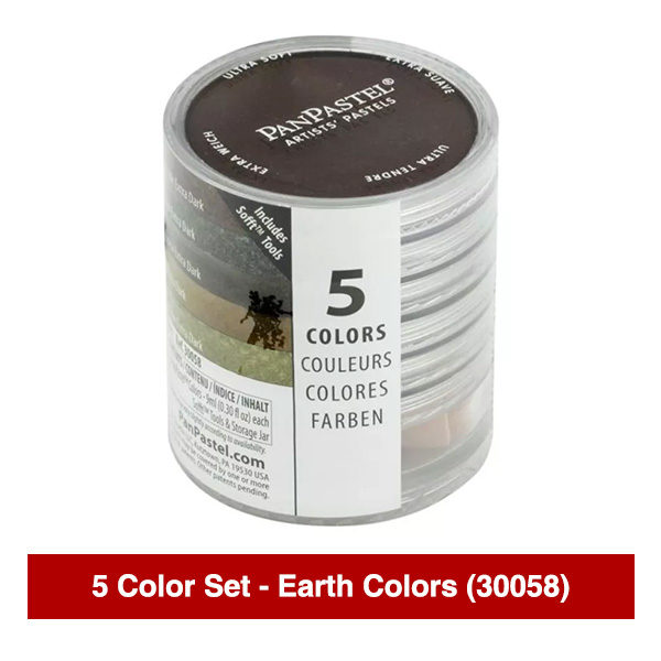 PanPastel-Ultra-Soft-Artists-Painting-Pastels-Earth-Colors-5-Color-Set-30058-Stack