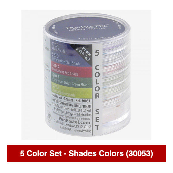 PanPastel-Ultra-Soft-Artists-Painting-Pastels-Shades-Colors-5-Color-Set-30053-Stack