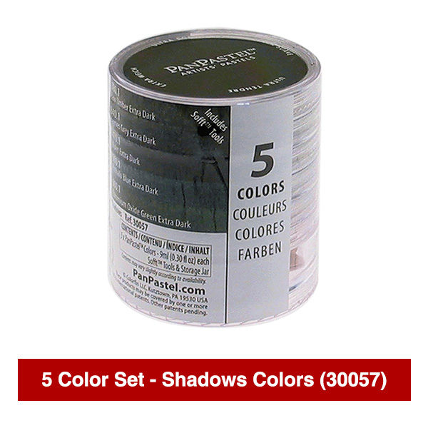 PanPastel-Ultra-Soft-Artists-Painting-Pastels-Shadows-Colors-5-Color-Set-30057-Stack