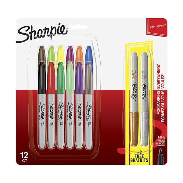 Sharpie-Permanent-Marker-Fine-Point-12-Set-plus-2-Metallic