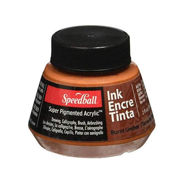 Speedball-Acrylic-Ink-60ml-Burnt-Umber-Colour