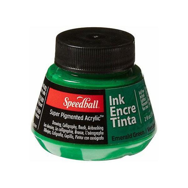 Speedball-Acrylic-Ink-60ml-Emerald-Green-Colour