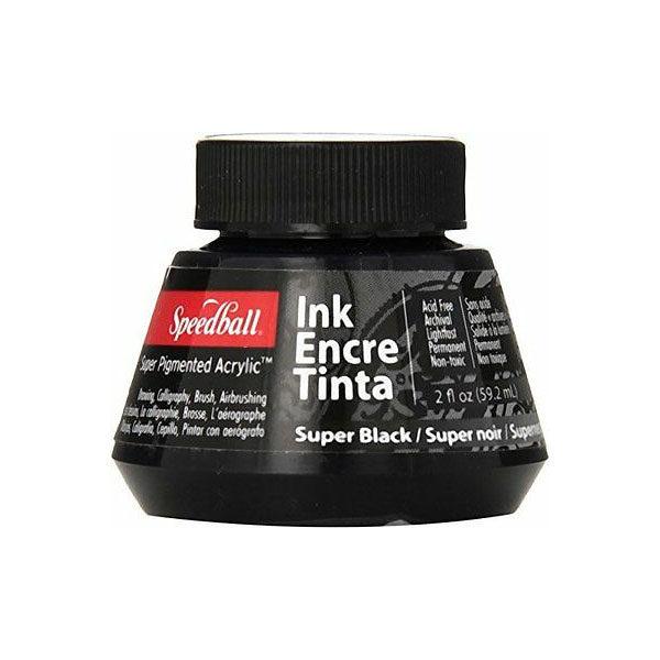 Speedball-Acrylic-Ink-60ml-Super-Black-Colour
