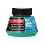 Speedball-Acrylic-Ink-60ml-Teal-Green-Colour