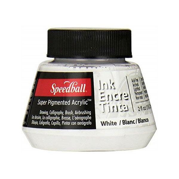 Speedball-Acrylic-Ink-60ml-White-Colour