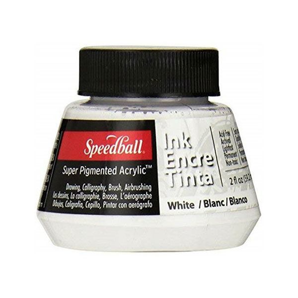 Speedball-Acrylic-Ink-60ml-White-Colour