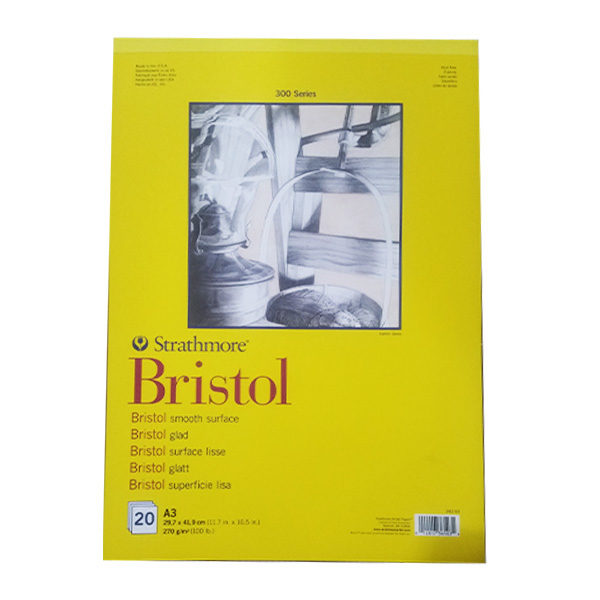 Strathmore-300-Series-Bristol-Speciality-Smooth-A3-Pad-new