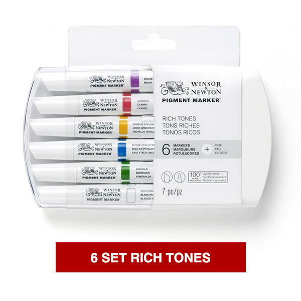 Winsor-&-Newton-Pigment-Marker-Rich-Tones-Set