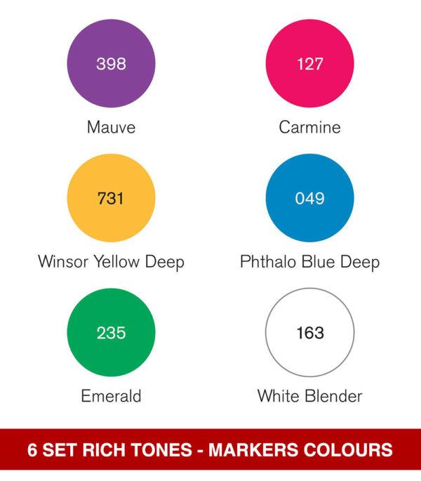 Winsor-&-Newton-Pigment-Marker-Rich-Tones-Set-Colour-Chart