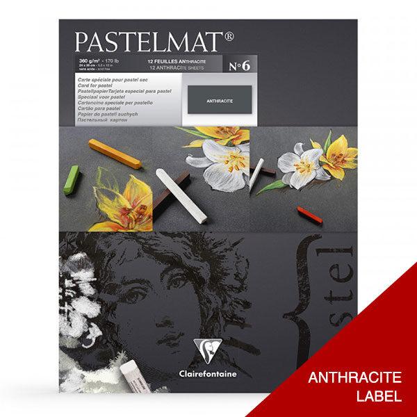 Clairefontaine-Pastelmat-Glued-Pad-ANTHRACITE-Label