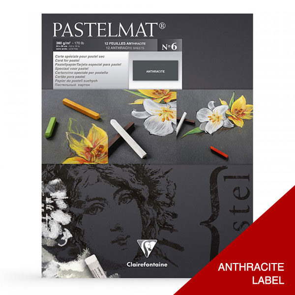 Clairefontaine-Pastelmat-Glued-Pad-ANTHRACITE-Label