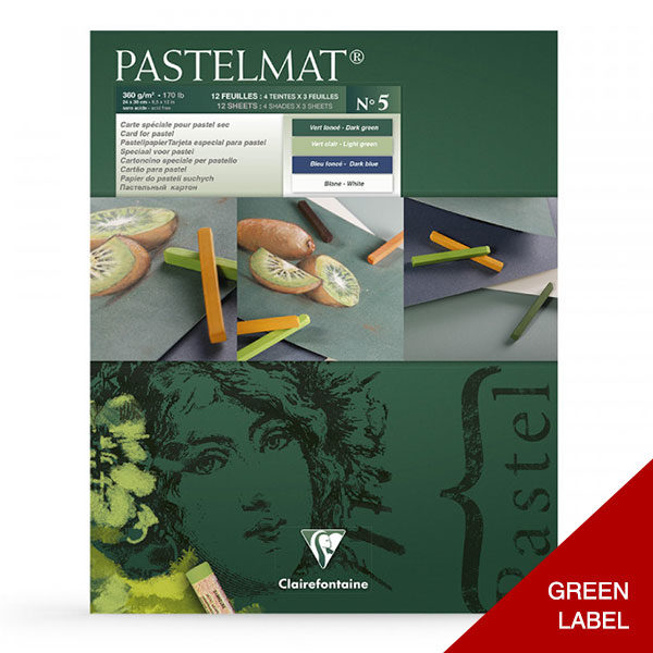 Clairefontaine-Pastelmat-Glued-Pad-Green-Label