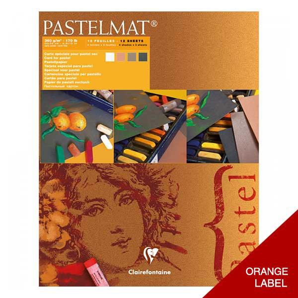 Clairefontaine-Pastelmat-Glued-Pad-Orange-Label