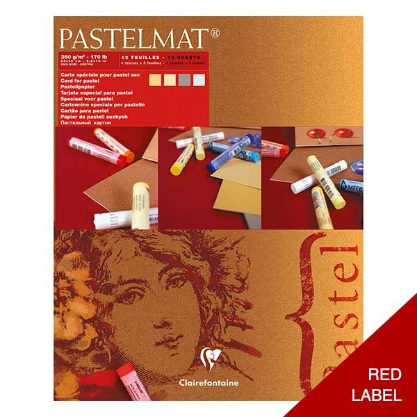 Clairefontaine-Pastelmat-Glued-Pad-Red-Label