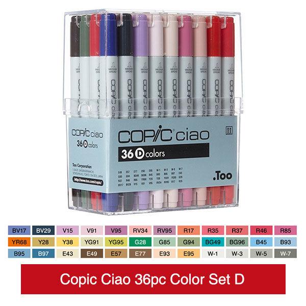 Copic-Ciao-36pc-Color-Set-D